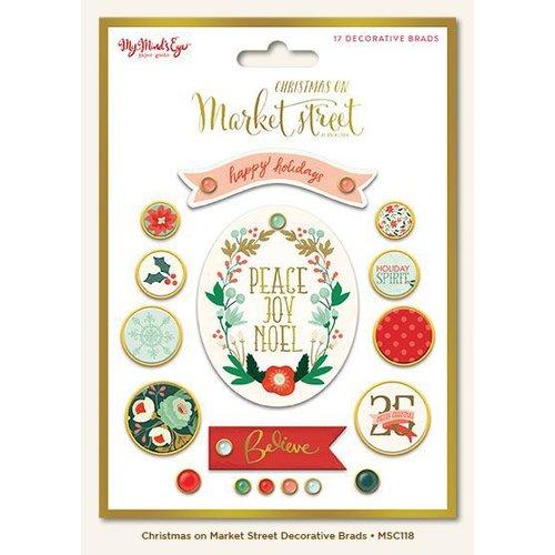 My Minds Eye - Christmas on Market Street Collection - Decorative Brads