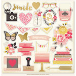 My Minds Eye - My Story Collection - 12 x 12 Chipboard Stickers - Elements