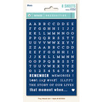 My Minds Eye - Necessities Collection - Blues - Cardstock Stickers - Tiny Alphabets and Words