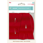 My Minds Eye - Necessities Collection - Reds - Monogram Alphabets