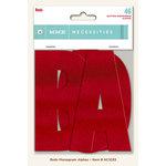 My Minds Eye - Necessities Collection - Reds - Monogram Alphabets