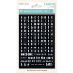 My Minds Eye - Necessities Collection - Black and Gray - Cardstock Stickers - Tiny Alphabets and Words