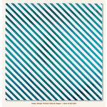 My Minds Eye - Necessities Collection - Teals - 12 x 12 Vellum Paper with Foil Accents - Stripe