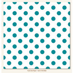 My Mind's Eye - Necessities Collection - Teals - 12 x 12 Paper - Dot
