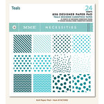 My Mind's Eye - Necessities Collection - Teals - 6 x 6 Paper Pad