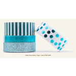My Mind's Eye - Necessities Collection - Teals - Decorative Tape