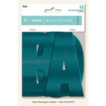 My Minds Eye - Necessities Collection - Teals - Monogram Alphabets