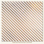 My Minds Eye - Necessities Collection - Metallic - 12 x 12 Vellum Paper with Foil Accents - Stripe