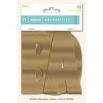 My Mind's Eye - Necessities Collection - Metallic - Monogram Alphabets