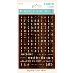 My Mind's Eye - Necessities Collection - Wood - Cardstock Stickers - Tiny Alphabets and Words