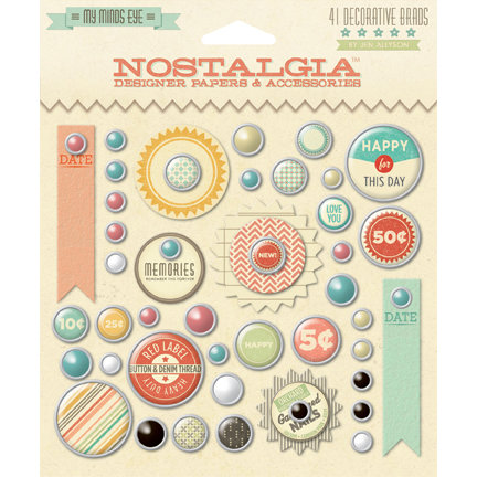 My Mind's Eye - Nostalgia Collection - Brads