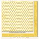 My Mind's Eye - On The Bright Side Collection - One - 12 x 12 Double Sided Paper - Yellow Chevron