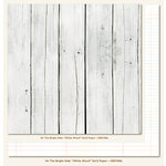 My Mind's Eye - On The Bright Side Collection - One - 12 x 12 Double Sided Paper - White Wood