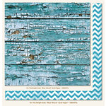 My Mind's Eye - On The Bright Side Collection - One - 12 x 12 Double Sided Paper - Blue Wood