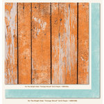 My Mind's Eye - On The Bright Side Collection - One - 12 x 12 Double Sided Paper - Orange Wood