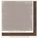 My Mind's Eye - On The Bright Side Collection - Two - 12 x 12 Double Sided Paper - Brown Stripe Be You
