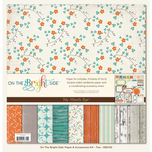 My Mind's Eye - On The Bright Side Collection - Two - 12 x 12 Paper Kit