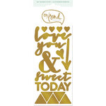 My Minds Eye - On Trend Collection - Awesome - Cardstock Stickers with Foil Accents