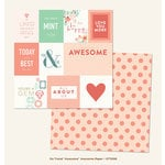 My Minds Eye - On Trend Collection - Awesome - 12 x 12 Double Sided Paper - Awesome
