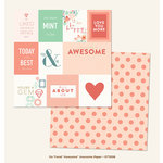 My Mind's Eye - On Trend Collection - Awesome - 12 x 12 Double Sided Paper - Awesome