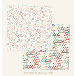 My Minds Eye - On Trend Collection - Party - 12 x 12 Double Sided Paper with Foil Accents - Gems