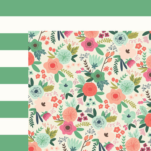 My Minds Eye - On Trend 2 Collection - 12 x 12 Double Sided Paper - Botanical