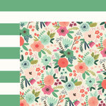 My Mind's Eye - On Trend 2 Collection - 12 x 12 Double Sided Paper - Botanical