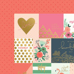 My Minds Eye - On Trend 2 Collection - 12 x 12 Double Sided Paper with Foil Accents - Little Things