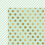 My Minds Eye - On Trend 2 Collection - 12 x 12 Double Sided Paper with Foil Accents - Minted