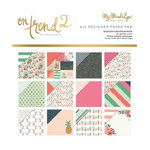 My Mind's Eye - On Trend 2 Collection - 6 x 6 Foiled Paper Pad