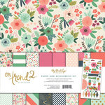 My Mind's Eye - On Trend 2 Collection - 12 x 12 Paper and Accessories Kit