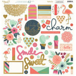 My Minds Eye - On Trend 2 Collection - 12 x 12 Chipboard Stickers - Elements