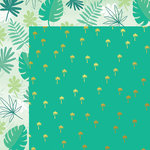 My Minds Eye - Palm Beach Collection - 12 x 12 Double Sided Paper with Foil Accents - Palm Trees