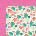 My Minds Eye - Palm Beach Collection - 12 x 12 Double Sided Paper - Floral