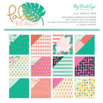 My Minds Eye - Palm Beach Collection - 6 x 6 Paper Pad with Foil Accents