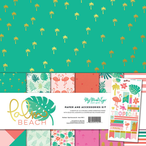 My Minds Eye - Palm Beach Collection - 12 x 12 Paper and Accessories Kit
