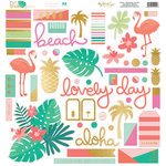 My Minds Eye - Palm Beach Collection - 12 x 12 Chipboard Stickers - Elements