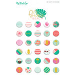 My Minds Eye - Palm Beach Collection - Puffy Stickers