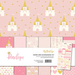 My Mind's Eye - Penelope Collection - 12 x 12 Paper and Accessories Kit with Foil and Glitter Accents