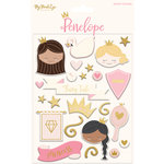 My Mind's Eye - Penelope Collection - Puffy Stickers with Foil Accents