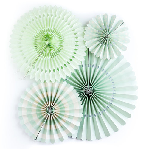My Minds Eye - Basics Collection - Party Fans - Mint