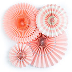 My Minds Eye - Basics Collection - Party Fans - Coral