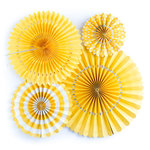 My Minds Eye - Basics Collection - Party Fans - Yellow