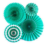 My Minds Eye - Basics Collection - Party Fans - Teal