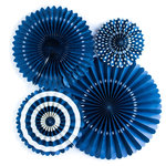 My Minds Eye - Basics Collection - Party Fans - Navy