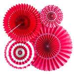 My Minds Eye - Basics Collection - Party Fans - Red