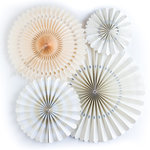 My Minds Eye - Basics Collection - Party Fans - Ivory