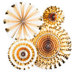 My Minds Eye - Basics Collection - Party Fans - Gold Foil