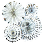 My Minds Eye - Basics Collection - Party Fans - Silver Foil