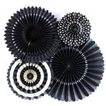 My Minds Eye - Basics Collection - Party Fans - Black